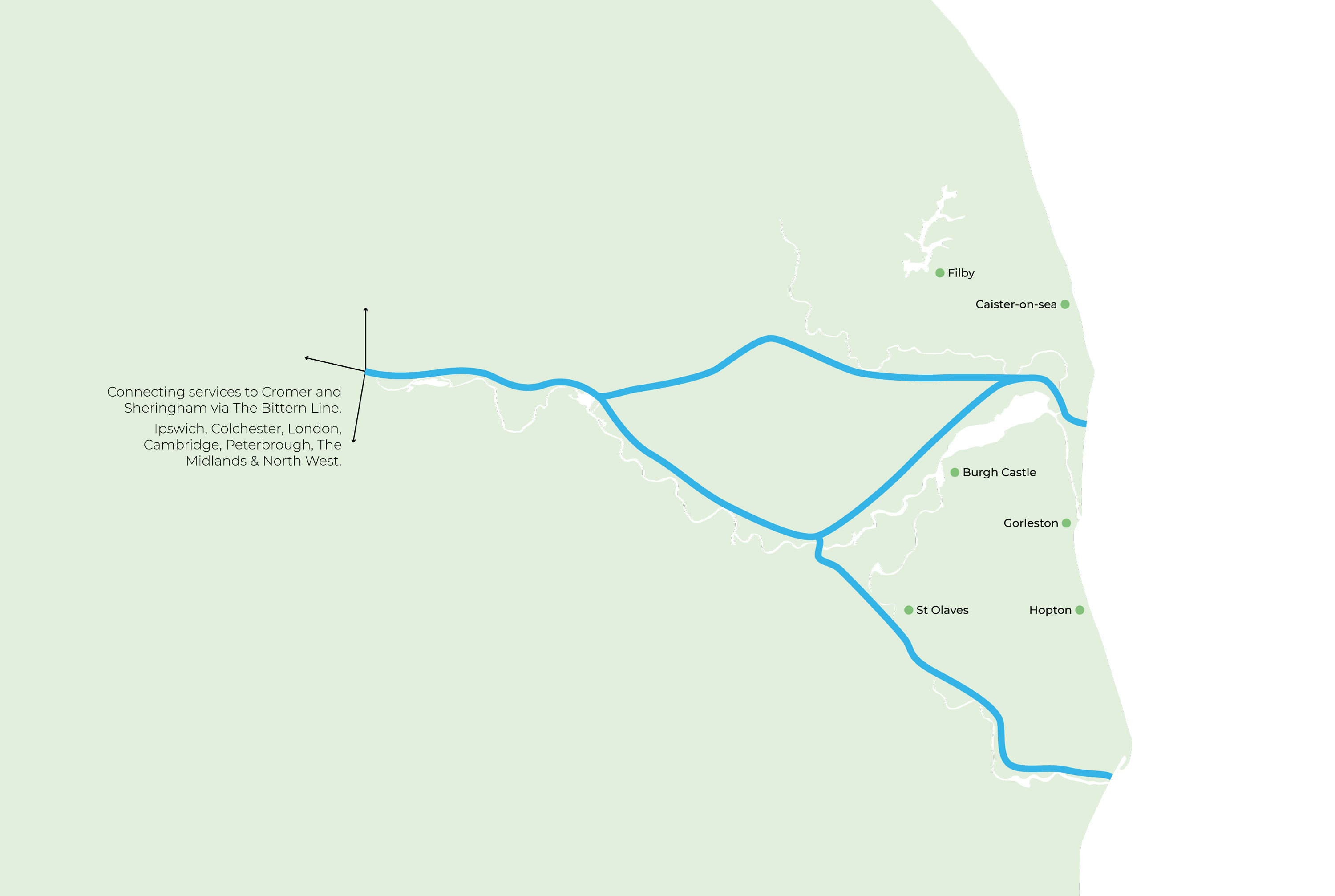 Wherry Line Map